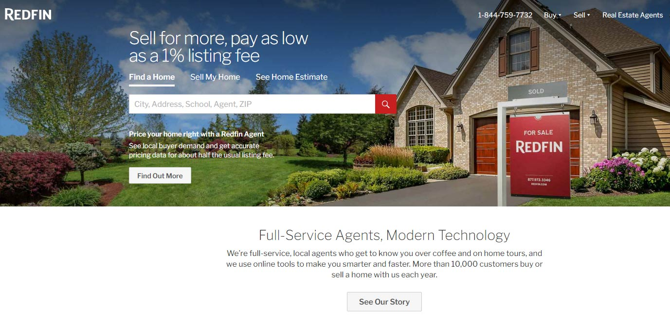 Redfin website