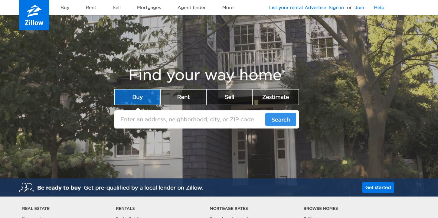 Zillow site